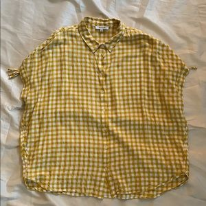 Made well Yellow Buffalo Plaid Shirt-Excellent Con